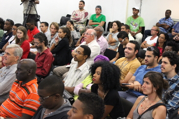 Audience at the Luis Huertas presentation on Tuesday March 25.