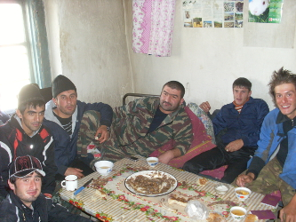Instead of us offering them a bribe, these men offered us lunch.